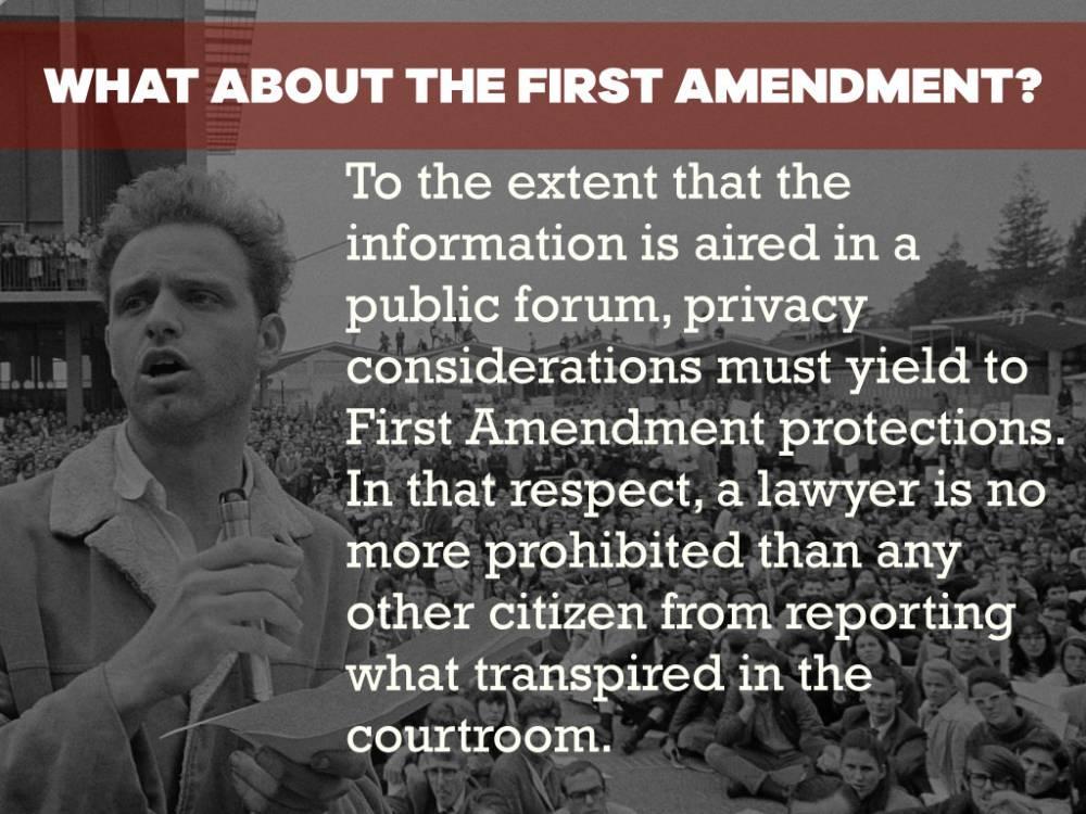 First Amendment Virginia Attorney Ethics