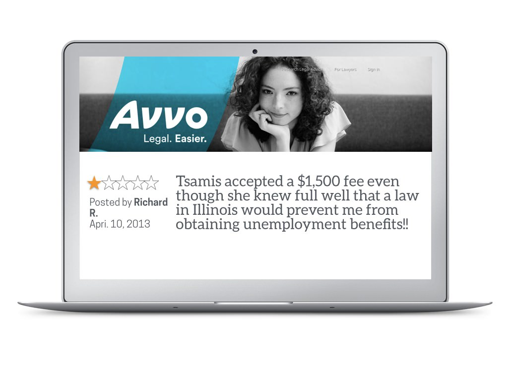 Betty Tsamis Avvo Review