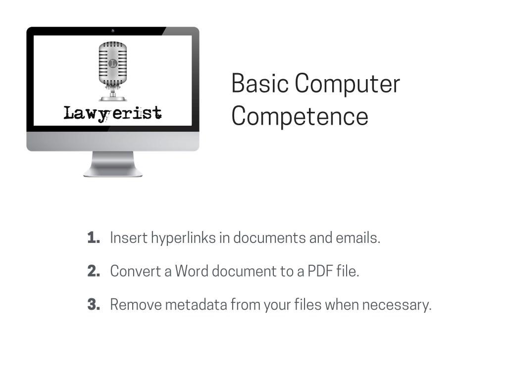 Lawyerist.com on Basic Computer Competence