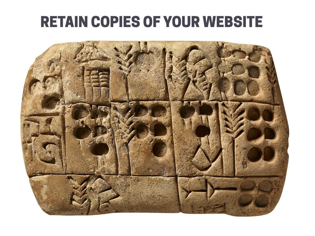Attorneys must retain copies of their website