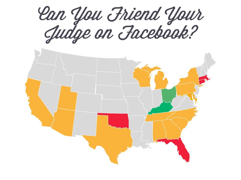 Can you friend your judge on Facebook?